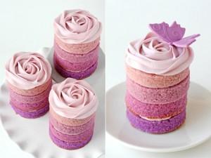 ombre mini cakes