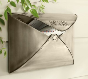 pottery barn envelope mailbox